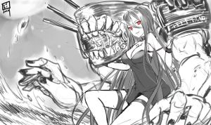 Sketch - Kancolle Battleship Hime by Coffee-Straw-LuZi