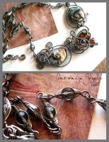 Sea and Sand necklace by Faeriedivine
