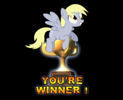You're Winner Derpy! by GreenMachine987