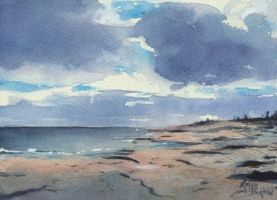 Northern Seascape by Flingling