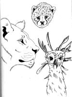 Animal Heads by UnknownX