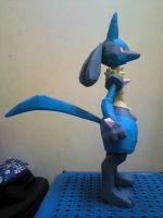 Lucario Papercraft 2 by riolushinx