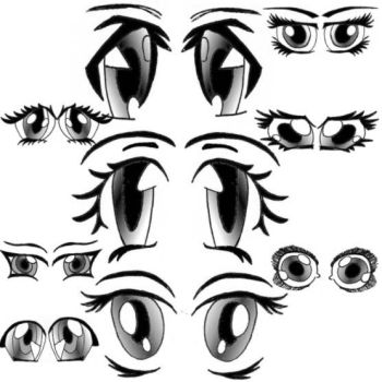 Anime Eyes by Red--Roses