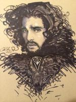 Jon Snow Portrait by Rvalenzuela80