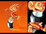 Monkey mascot by pho001boss