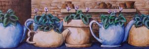 Teapots On Parade by mbeckett