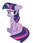 TwilightSparkle Sits by ABadCookie