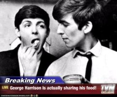 BN: George Harrison Is Actually Sharing His Food! by TheOriginalBeatleBug