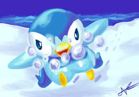 Piplup, use Bubble by MusicalCombusken