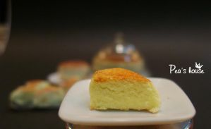 minifood:slice soft cheesecake  ( japanese style) by lovely301090