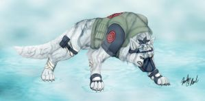 Kakashi - Dog Color Version by stormwhisper02