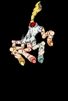 Honker Hand: Spawning Gif Animation by F-Wilt