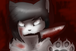 jeff the killer (cat) by KellDarkness