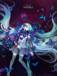 Miku and butterfly's grave by dorset