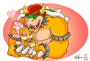 Bowser and Wendy by Libellchen174