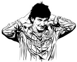 Lionel Messi - Vector by astayoga