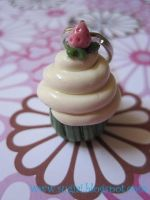 Strawberry Cupcake Charm by SugiAi