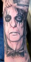 Portrait Tattoo: Alice Cooper by catbones