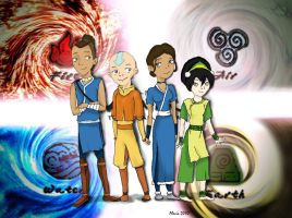The Last Airbender Characters by corazongirl
