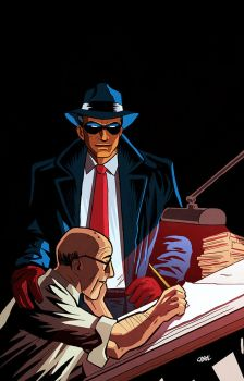 Will Eisner and The Spirit by Cabbral