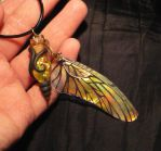 Vial of the Sunwasp Clan - handmade Pendant by Ganjamira