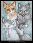 Family of Felines by IceandSnow