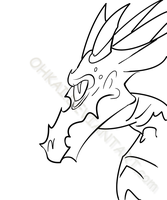Some Dragon Lineart by ohkai