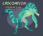 CROCOMELON [collab auction OPEN] by VCR-WOLFE