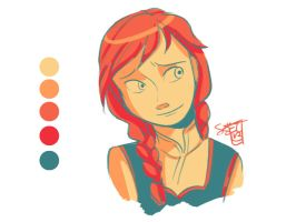 Anna - Color Palette Challenge by ComickerGirl