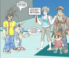 Welcoming the Wii fit trainer villager and Aiden by WaRrior9100