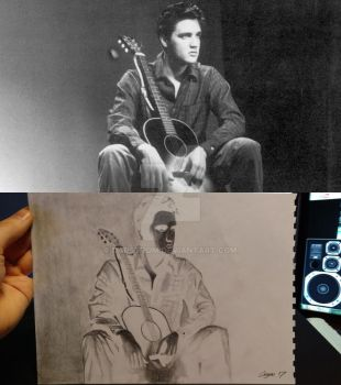 original picture and negative drawing by Darstrom