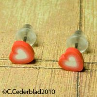 Cute little heart earrings by skuggsida