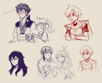 Some Fire Emblem sketches by firehorse6
