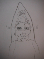 A New Self Badge Sketch by AmericanWolf016