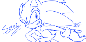 How I Draw Sonic by ShadowReaper12
