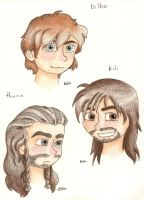 Two dwarves and a hobbit by pinctraeth
