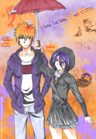IchiRuki - Happy Memories in the rain II by BitterSweetNitemare