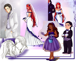 Mari and Re'ne Wedding collage by Xuiology