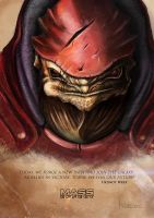 Urdnot Wrex Painting by WillFx