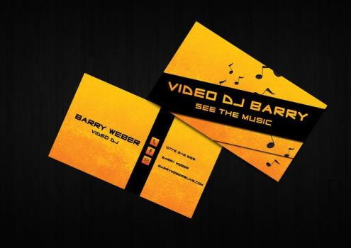 Vj Barry Business Card by Cr8tiveChaos