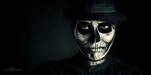 Facepaint Skull Self Portrait by PetroHirsch