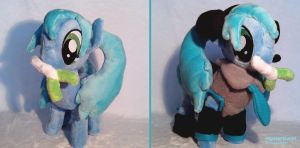 Miku Hatsune Pony Plushie - Commission by HipsterOwlet