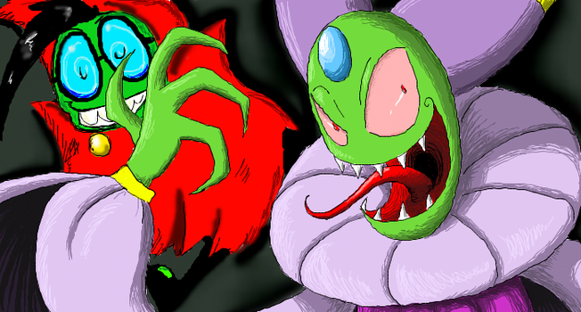 Cackletta and Fawful by Twilight-Silvermoon