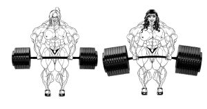Female weightlifters by nrslgrlr
