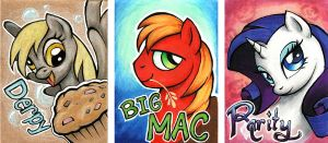 2014 Pony Badges by dracontiar
