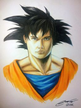 SON GOKU Realistic Drawing by TheArtFeel
