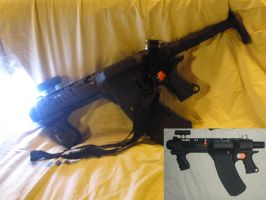 HvZ Modified NERF Quick16 - 'Q18 BLACK OPS' by MarcWF