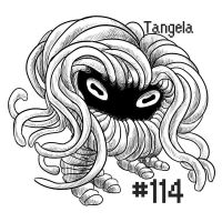 PKMN-A-DAY: Tangela by the-b3ing