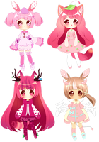 Adoptables - Leftovers OPEN $15.00 by PuffyPrincess