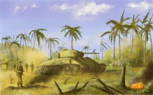 Advance on Peleliu 1944 by derbz